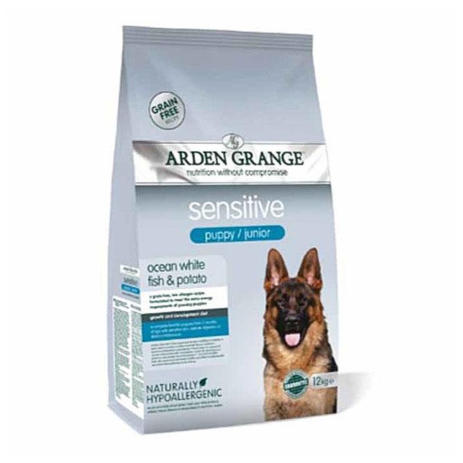 Arden Grange Sensitive Puppy / Junior – grain free – ocean white fish & potato - 12Kg